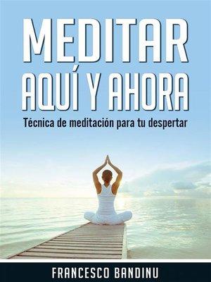 cover image of Meditar Aquí Y Ahora. Técnica De Meditación Para Tu Despertar.