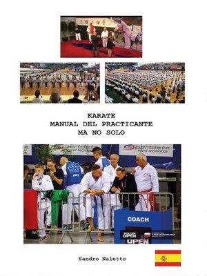 cover image of Karate manual del praticante ma no solo