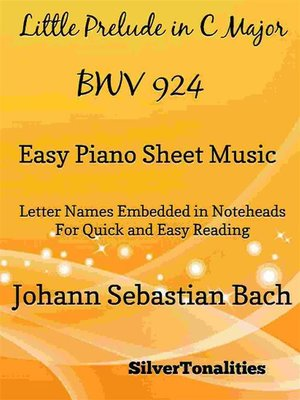 cover image of Little Prelude in C Major BWV 924 Easy Piano Sheet Music