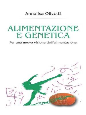 cover image of Alimentazione e genetica