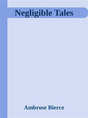 cover image of Negligible Tales