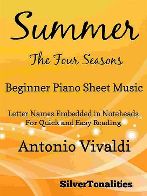 cover image of Summer Four Seasons Beginner Piano Sheet Music