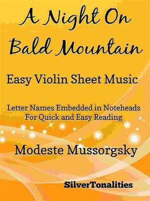 cover image of A Night on Bald Mountain Easy Violin Sheet Music