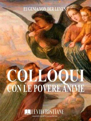 cover image of Colloqui con le povere anime