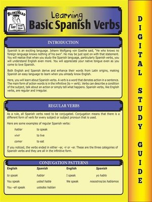 cover image of Spanish Verbs (Blokehead Easy Study Guide)