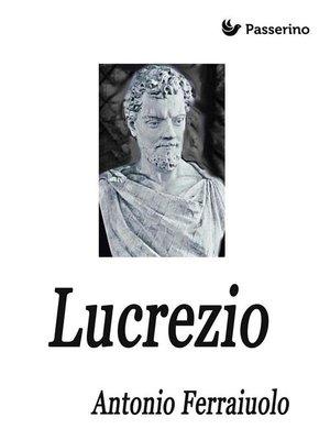 cover image of Lucrezio