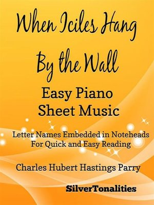 cover image of When Icicles Hang by the Wall Easy Piano Sheet Music