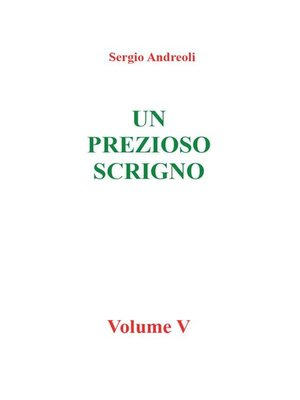 cover image of Un prezioso scrigno--vol V
