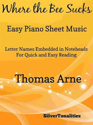 cover image of Where the Bee Sucks Easy Piano Sheet Music