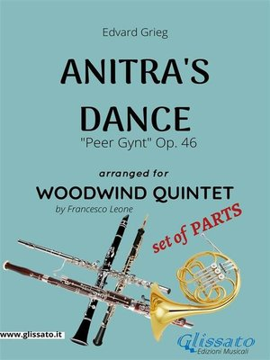 cover image of Anitra's Dance--Woodwind Quintet set of PARTS