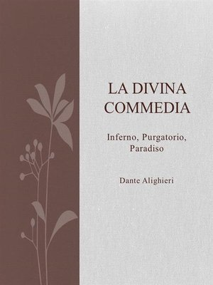 cover image of La divina commedia