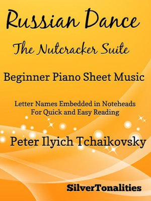 cover image of Russian Dance Nutcracker Suite Beginner Piano Sheet Music