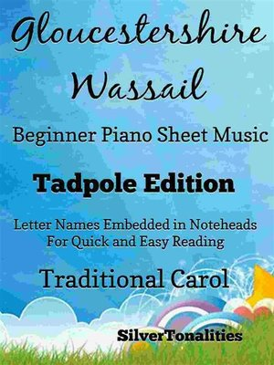 cover image of Gloucestershire Wassail Easy Piano Sheet Music Tadpole Edition