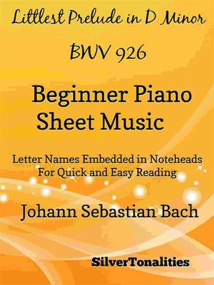cover image of Littlest Prelude in D Minor BWV 926 Beginner Piano Sheet Music