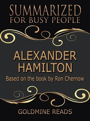 cover image of Alexander Hamilton--Summarized for Busy People
