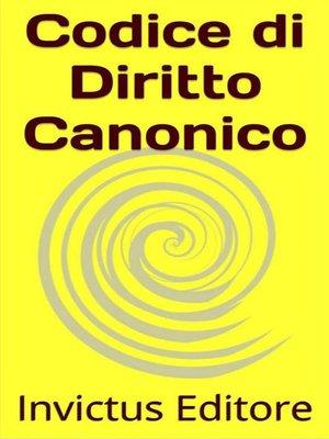 cover image of Codice di diritto canonico