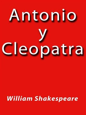 cover image of Antonio y Cleopatra