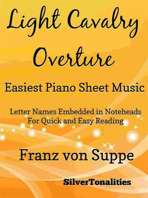 cover image of Light Cavalry Overture Easiest Piano Sheet Music