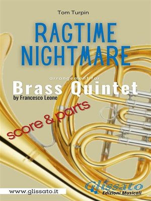 cover image of Ragtime Nightmare--Brass Quintet (parts & score)
