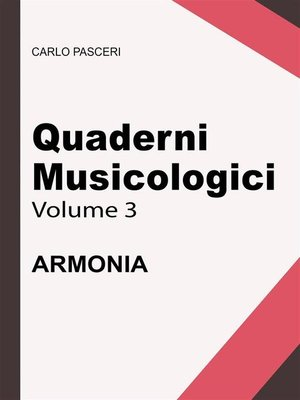 cover image of Quaderni Musicologici--Armonia