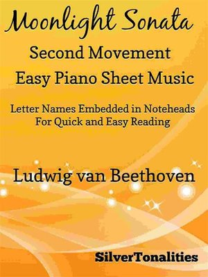 cover image of Moonlight Sonata Second Movement Easy Piano Sheet Music