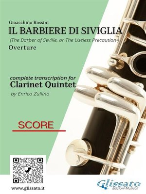 cover image of Il Barbiere di Siviglia (overture) Clarinet Quintet score & parts