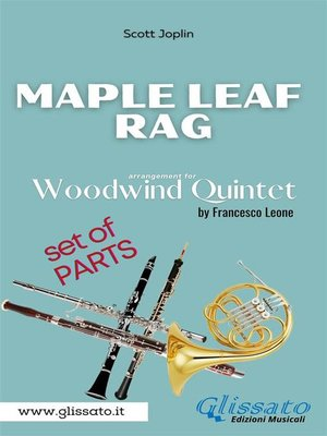 cover image of Maple Leaf Rag--Woodwind Quintet--Parts