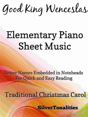 cover image of Good King Wenceslas Elementary Piano Sheet Music
