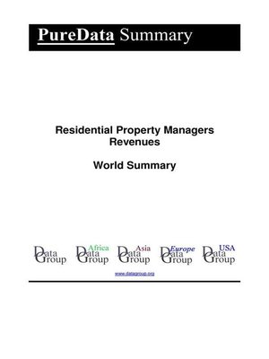 cover image of Residential Property Managers Revenues World Summary