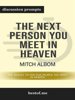 "cover image of Summary--""The Next Person You Meet in Heaven--The Sequel to the Five People You Meet in Heaven"" by Mitch Albom 