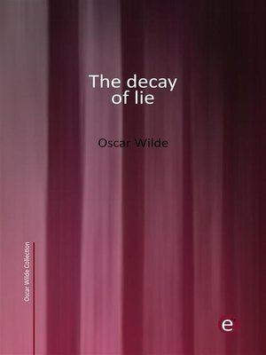 cover image of The decay of lie