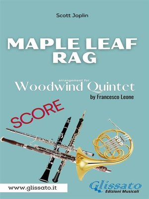 cover image of Maple Leaf Rag--Woodwind Quintet (score)