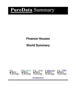 cover image of Finance Houses World Summary