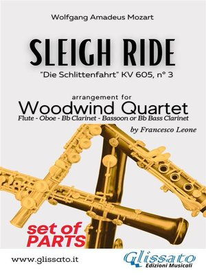 cover image of Sleigh Ride--Woodwind Quartet (PARTS)