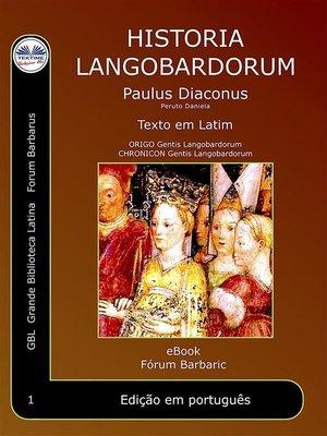 cover image of Historia Langobardorum