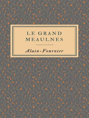 cover image of (Le grand Meaulnes)
