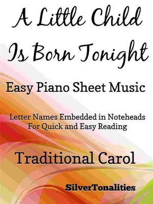 cover image of A Little Child is Born Tonight Easy Piano Sheet Music