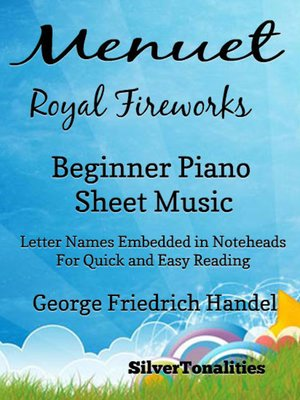 cover image of Menuet Royal Fireworks Beginner Piano Sheet Music