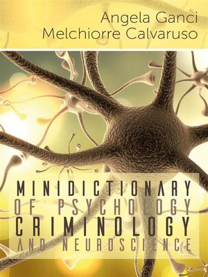 cover image of Minidictionary of psychology, criminology and neuroscience