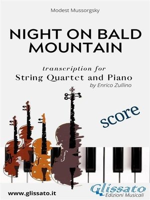 cover image of Night on Bald Mountain--String Quartet and Piano (score)