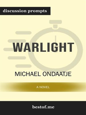 cover image of Warlight--A Novel--Discussion Prompts
