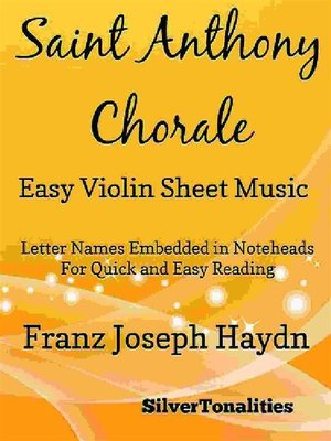 cover image of Saint Anthony Chorale Easy Violin Sheet Music