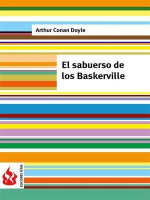 cover image of El sabueso de los Baskerville (low cost). Edición limitada