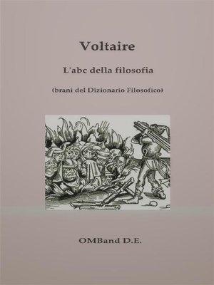 cover image of L'abc della filosofia