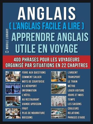 cover image of Anglais ( L'Anglais facile a lire )--Apprendre Anglais Utile en Voyage