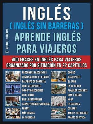 cover image of Inglés ( Inglés Sin Barreras ) Aprende Inglés Para Viajeros