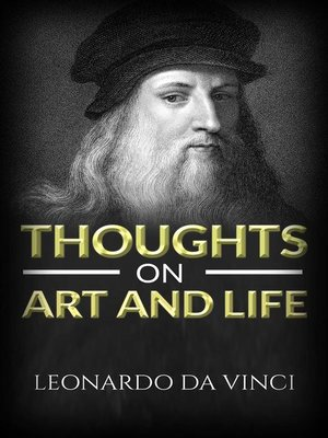 cover image of Thoughts on art and life