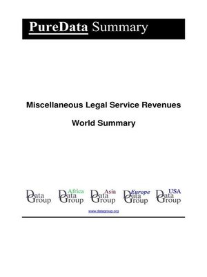 cover image of Miscellaneous Legal Service Revenues World Summary