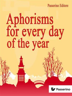 cover image of Aphorisms for Every Day of the Year