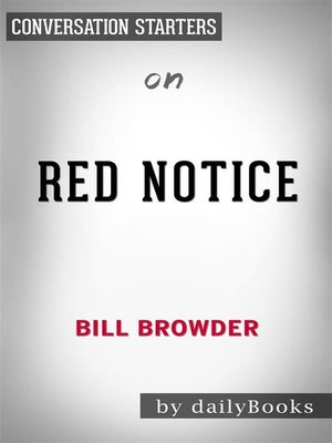 cover image of Red Notice--by Bill Browder​​​​​​​